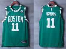 Mens Nba Boston Celtics #11 Kyrie Irving Green Road Swingman Nike Mesh Jersey
