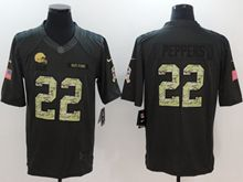 Mens Nfl Cleveland Browns #22 Peppers Black Anthracite Salute To Service Limited Jersey