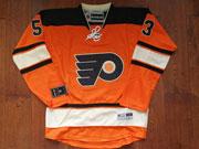 Mens Nhl Philadelphia Flyers #53 Shayne Gostisbehere Orange Alternate Premier Jersey