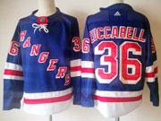 Mens Nhl New York Rangers #36 Mats Zuccarello Blue Home Premier Adidas Jersey