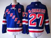 Mens Nhl New York Rangers #27 Ryan Mcdonagh Blue Home Premier Adidas Jersey