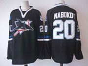 Mens Nhl San Jose Sharks #20 Nabokov Black Jersey