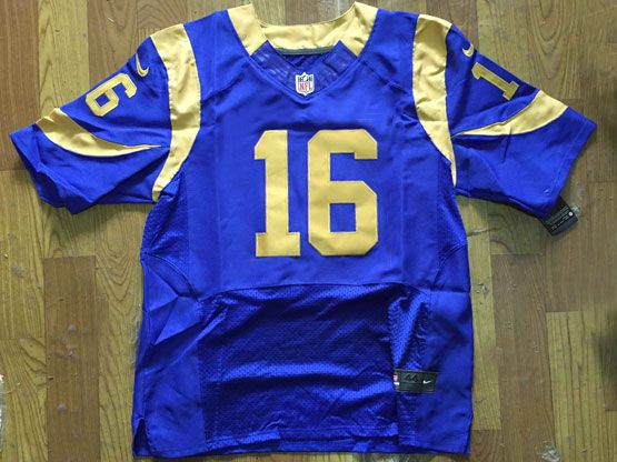 Mens Nfl St. Louis Rams #16 Jared Goff Royal Blue Elite Jersey