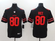 Mens San Francisco 49ers #80 Jerry Rice Black Vapor Untouchable Limited Jersey