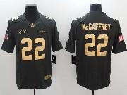Mens Nfl Carolina Panthers #22 Christian Mccaffrey Salute To Service Limited Gold Number Jersey