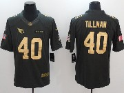 Mens Nfl Arizona Cardinals #40 Pat Tillman Salute To Service Limited Gold Number Jersey