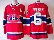 Mens Montreal Canadiens #6 Shea Weber Red Home Premier Adidas Jersey