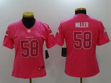 Women Nfl Denver Broncos #58 Von Miller Pink Vapor Untouchable Limited Jersey