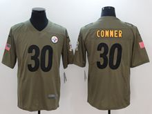 Mens Nfl Pittsburgh Steelers  #30 James Conner Green Olive Salute To Service Limited Nike Jersey