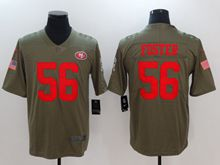Mens Women Nfl San Francisco 49ers #56 Reuben Foste Green Olive Salute To Service Limited Nike Jersey