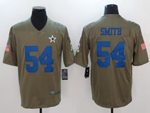 Mens Dallas Cowboys #54 Jaylon Smith Green Olive Salute To Service Limited Nike Jersey