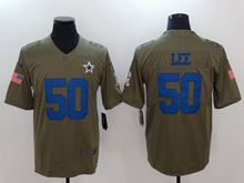Mens Dallas Cowboys #50 Sean Lee Green Olive Salute To Service Limited Nike Jersey