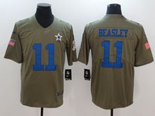 Mens Dallas Cowboys #11 Cole Beasley Green Olive Salute To Service Limited Nike Jersey