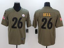 Mens Nfl Pittsburgh Steelers #26 Le'veon Bell Green Olive Salute To Service Limited Nike Jersey