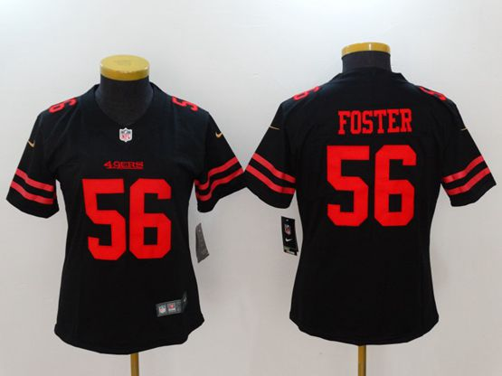 Women San Francisco 49ers #56 Reuben Foster Black Vapor Untouchable Limited Jersey