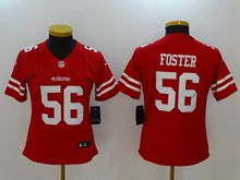 Women San Francisco 49ers #56 Reuben Foster Red Vapor Untouchable Limited Jersey