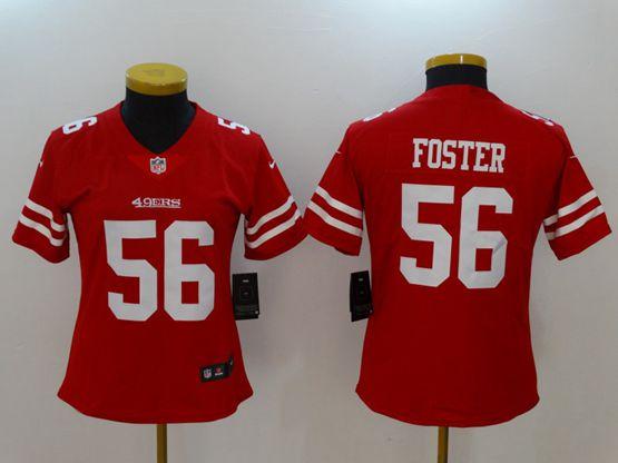 Women San Francisco 49ers #56 Reuben Foster Red Vapor Untouchable Limited Jersey