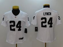Women Nfl Oakland Raiders #24 Marshawn Lynch White Vapor Untouchable Limited Jersey