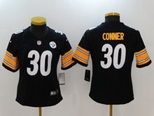 Women Nfl Pittsburgh Steelers #30 James Conner Black Vapor Untouchable Limited Jersey