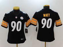 Women Nfl Pittsburgh Steelers #90 T. J. Watt Black Vapor Untouchable Limited Jersey