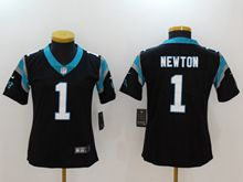 Women Nfl Carolina Panthers #1 Cam Newton Black Vapor Untouchable Limited Jersey