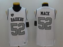 Mens Nfl Oakland Raiders #52 Khalil Mack White Color Rush Tank Top Jersey
