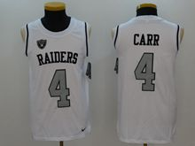 Mens Nfl Oakland Raiders #4 Derek Carr White Color Rush Tank Top Jersey