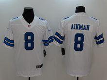 Mens Nfl Dallas Cowboys #8 Troy Aikman White Vapor Untouchable Limited Jersey