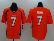 Mens Nfl Denver Broncos #7 John Elway Orange Vapor Untouchable Limited Jersey