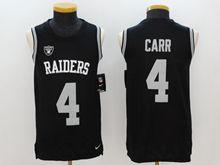 Mens Nfl Oakland Raiders #4 Derek Carr Black Color Rush Tank Top Jersey