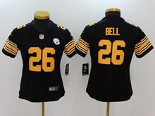 Women Pittsburgh Steelers #26 Le'veon Bell Black Color Rush Limited Jersey