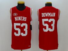 Mens San Francisco 49ers #53 Navorro Bowman Red Tank Top Jersey