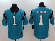 Mens Nfl Carolina Panthers #1 Cam Newton Blue Vapor Untouchable Limited Jersey