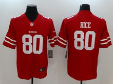 Mens San Francisco 49ers #80 Jerry Rice Red Vapor Untouchable Limited Jersey