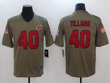 Mens Nfl Arizona Cardinals #40 Pat Tillman Green Olive Salute To Service Limited Nike Jersey