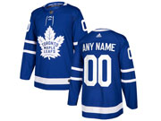 Mens Nhl Toronto Maple Leafs Custom Made Blue Hockey Adidas Jersey