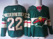 Mens Nhl Minnesota Wild #22 Nino Niederreiter Green Home Premier Adidas Jersey