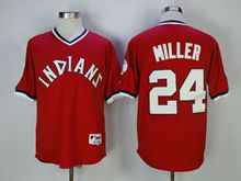 Mens Mlb Cleveland Indians #24 Andrew Miller Red Pullover Jersey