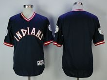 Mens Mlb Cleveland Indians Blank Blue Pullover Jersey