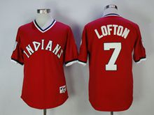 Mens Mlb Cleveland Indians #7 Kenny Lofton Red Pullover Jersey