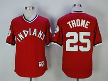 Mens Mlb Cleveland Indians #25 Jim Thome Red Pullover Jersey