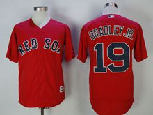 Mens Mlb Boston Red Sox #19 Jackie Bradley Jr. Red Cool Base Jersey