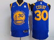 Mens Nba Golden State Warriors #30 Stephen Curry Blue Nike Jersey
