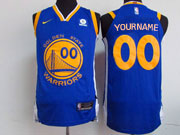 Mens Nba Golden State Warriors Cusotm Made Blue Nike Jersey