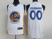 Mens Nba Golden State Warriors Cusotm Made White Nike Jersey