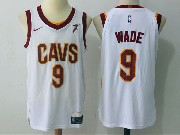 Mens Nba Cleveland Cavaliers #9 Dwyane Wade Cavs White Nike Jersey