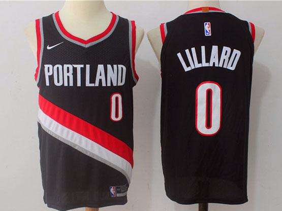 Mens Nba Portland Trail Blazers #0 Damian Lillard Black Nike Jersey