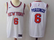 Mens Nba New York Knicks #6 Kristaps Porzingiswhite Nike Jersey
