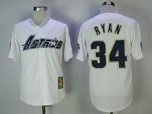 Mens Majestic Houston Astros #34 Nolan Ryan White Throwback Cool Base Jersey