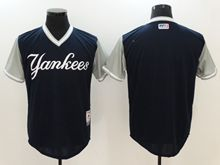 Mens Mlb New York Yankees Custom Made Black 2017 Players Weekend Authentic Jersey